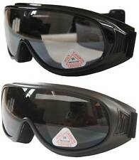 2 prs Andevan™ Goggles cover / wear over Rx glasses -black + clear
