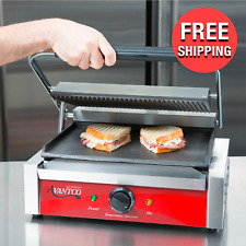 Panini Sandwich Press Grill Countertop Cooking Commercial Restaurant Equipment