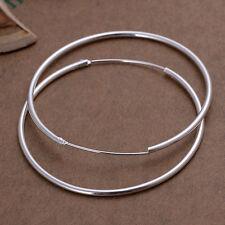925 Sterling Silver Hoop Pierced Earrings L102