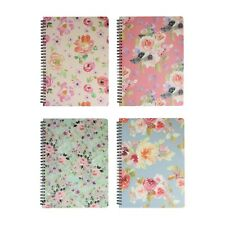 Floral Hard Cover Spiral Book Diary Notebook Writing Journal Ruled 80 Sheets