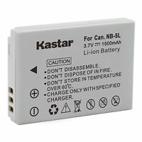 Kastar Battery for Canon NB-5L PowerShot S100 S110 SX200 SX210 SD990 IS SX230 HS