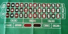 """roulette layouts 36"""" x 72""""  felt"""