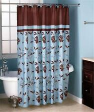 "Popular Bath Cabella Blue Fabric Shower Curtain 70"" x 72"""