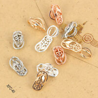 Gold/Silver Slippers Shape Alloy Pearl Beads Cage Locket Pendant DIY Necklace