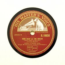 "EDDIE FISHER ""How Deep Is The Ocean / That Old Feeling"" (EE+) HMV [78 RPM]"