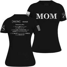 Grunt Estilo Feminino Mãe definido T-shirt-Preto