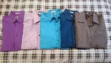 5 Used Lot of Men's Express Medium M Dress Shirt 1MX etc Button Down Long Sleeve