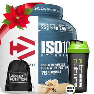 Dymatize ISO100 Hydrolyzed Whey Protein Isolate 2.2kg, Sling Bag & Shaker!