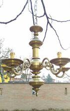 LAMPADARIO IN OTTONE ANNI '70 SALISCENDI VINTAGE ANTICO