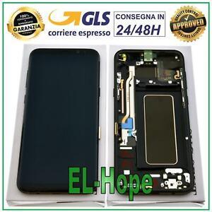 DISPLAY LCD FRAME ORIGINALE SAMSUNG GALAXY S8+ PLUS SM-G955 F TOUCH SCREEN NERO