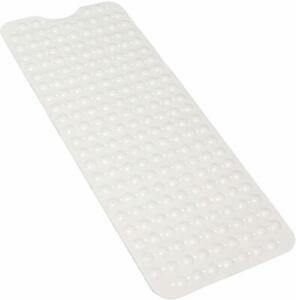 Extra Long Non-slip Environmental Rubber Bath Mat Shower Tub Mat w/ Suction Cup