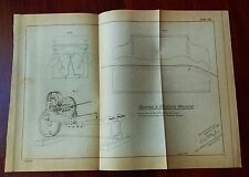 1885 Sketch Diagram US Military Shaping and Bending Machine Rock Island Arsenal