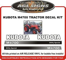 KUBOTA  M4700 TRACTOR DECAL SET , reproductions