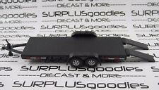 Johnny Lightning 1/64 Scale LOOSE Black Car Hauler Trailer with Working Ramps