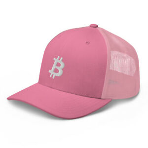 Bitcoin White Baseball Cap BTC Crypto Trader Gift Embroidery Dad Hat