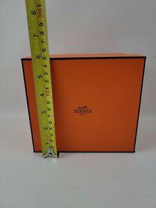 "Hermes Authentic Orange Gift Box Empty Box Only 6.25"" x 5.5"" x 4.5"" - 1345 bis"