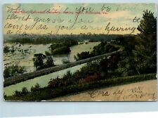 Postcard VA Richmond View From Hollywood Cemetery Railroad Tracks 1911 O07