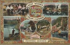 Hunting Scenes - Best Wishes From Canada postcard
