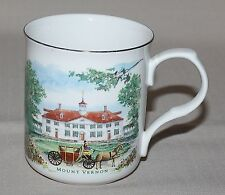 Mount Vernon Estate Gardens Mug George Washington Porcelain 1999