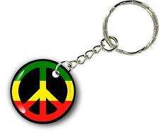Keychain key ring keyring car rasta flag jamaica rastafarai reggae peace love