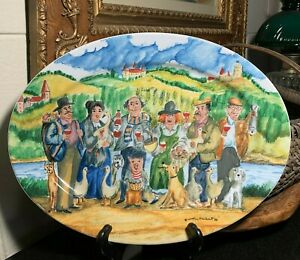 """Guy Buffet Williams-Sonoma Perigord 16"""" Whimsical Serving Platter Germany - MINT"""