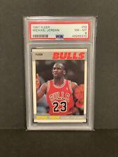 1987-88 Fleer Michael Jordan #59 PSA 8 NM-MT HOF BULLS 2nd Year Card 🔥🔥