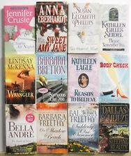12 Thick MODERN ROMANCE NOVELS Free US S/H Lot #A471 Popular Authors - Read List