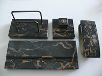 Rariät  ca. 100 alte Marmor Schreibtisch Ganitur  4 Teilig