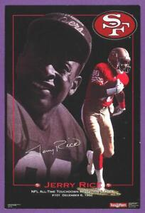 """Jerry Rice S.F. 49ers 4"""" x 6"""" Costacos Brothers TD Reception Leader Mini Poster"""