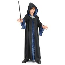 Large Black Childrens Wizard Robe - Costume Fancy Dress Boys Outfit Magician