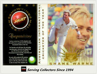 Ultra Rare-1997/98  Select Cricket Card Int'l Player Of The Year Shane Warne