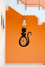 Wall Stickers Vinyl Decal Cat Clocks Nursery For Kids Animal Home Decor ig693