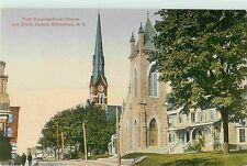 A View of the First Congregational Church & Christ Church, Middletown Ny