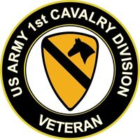 "Army 1st Cavalry Division Veteran 5.5"" Sticker 'Officially Licensed'"