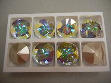 2 swarovski round brooch stones,27mm crystal AB/foiled #1201
