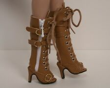 """Lt (Light) Brown Lace Up Sandal Boots Doll Shoes For 16"""" Tyler Wentworth (Debs)"""