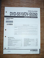 Service Manual für Yamaha DVD-S510/DV-S5350,ORIGINAL
