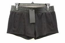 NEW Solow Women's French Terry Shorts w/ Contrast in Black