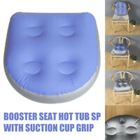 Soft Spa Booster Seat Inflatable Hot Tub Pillows Cushion w/ Suction Cup Grip US