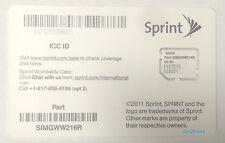 New Clean Sprint Micro ICCID SIM Card SIMGWW216R 100 QTY