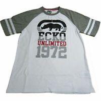 Ecko Unltd. Unlimited Men's 1972 Crew White Logo Printed Graphic Tee T-Shirt