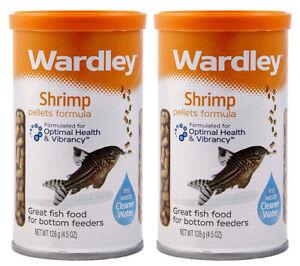 Wardley Fish Food, Shrimp Pellets For Bottom Feeders 4.5oz (PACK OF 2)