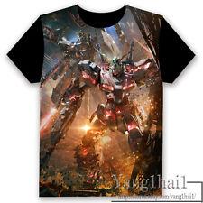 GUNDAM Anime Otaku Short Sleeve Unisex T-shirt Tops Cool S-XXXL Summer #P-246
