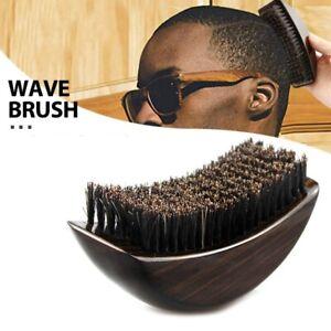 Engrave logo-New Kind beard care brush wood handle boar bristle Brush Wave brush