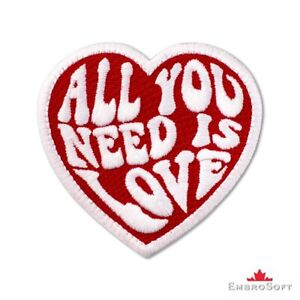"""The Beatles All You Need is Love Music Embroidered Patch Iron On SIZE:3""""x2.8"""""""