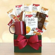 Starbucks Tazo Tea Temptations Gift Box Biscotti Chocolate Earthenware Mug