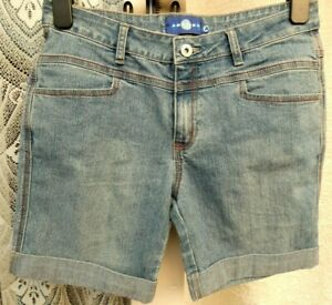"( Ref 5775 ) Amazing Jeans - Size 10 W 30"" - Ladies Blue Denim Summer Shorts"