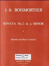 Sonate No 2 en la min pour basson et basse continue