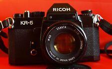 Ricoh KR-5 mit Objektiv 1:1,8 50mm Exakta analoge SLR Kamera s123