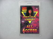 Ace Frehley backstage pass Laminated Just For Fun Tour '92 !